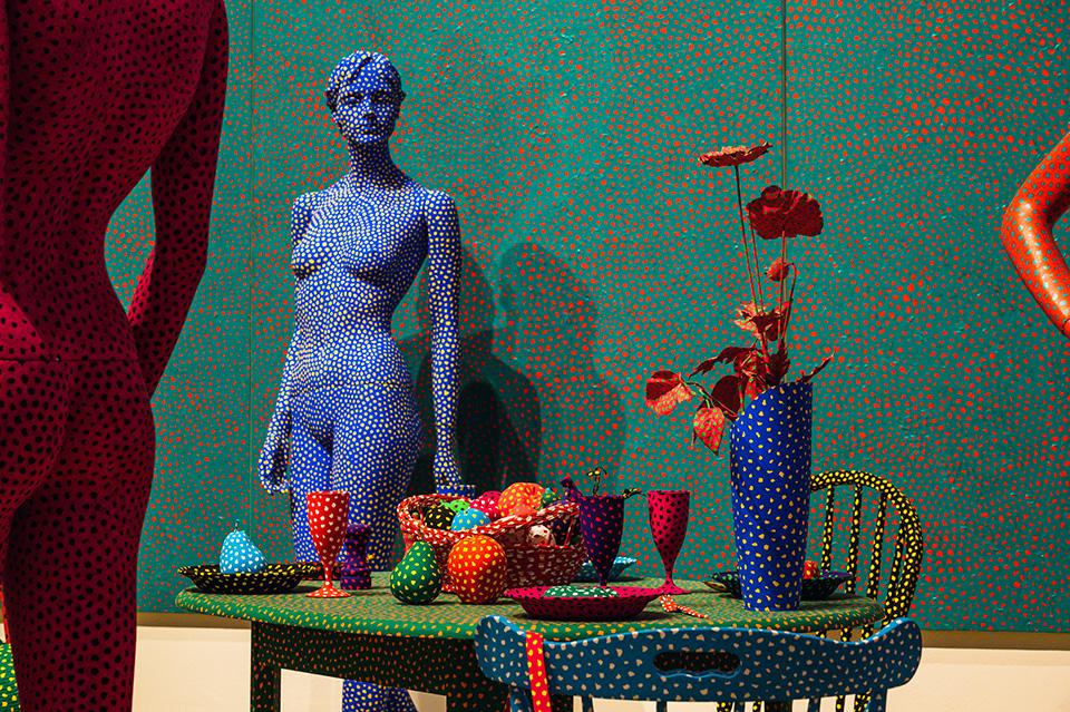tischblume #71 yayoi kusama A Bouquet of Love I Saw in the Universe Gropius Bau Berlin